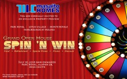 "Grand Open House ""Spin N' Win"""